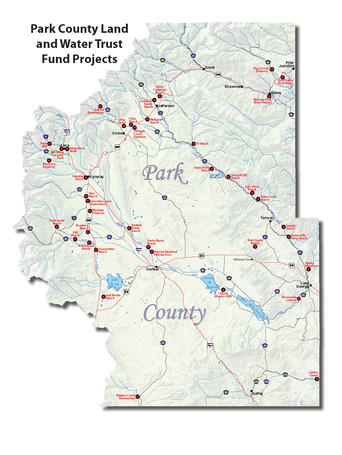 Trust Fund Project Map 2018