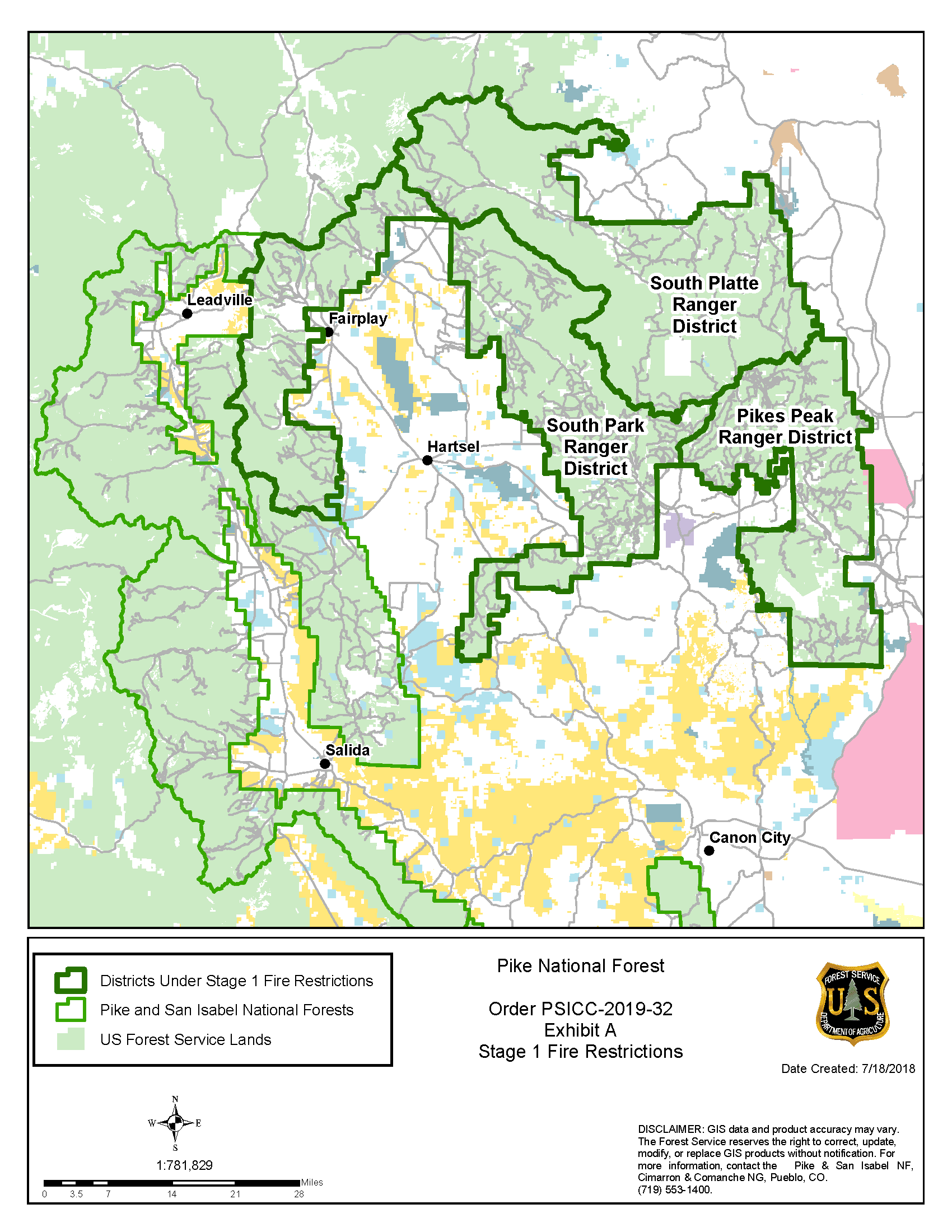 2019_32 Pike NF Fire Restrictions Stage1 Exh A Map