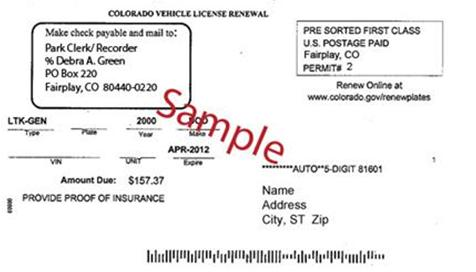 New Vehicle Registration Card
